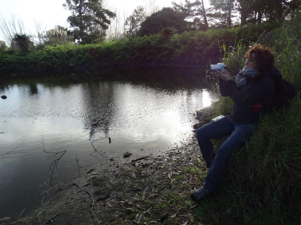 Lisa investigates at Mangawhai