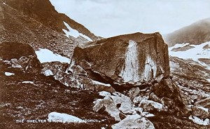 Ben MacDhui Shelter Stone, c1905 postcard
