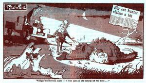 Bunyip cartoon, Daily Mirror Sydney 9 June 1978