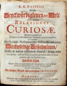 Happel's Relationes Curiosae