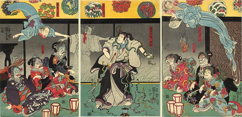 Utagawa Kuniyoshi, The Ghosts, c. 1850