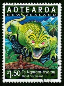 Ngarara on 2000 NZ stamp