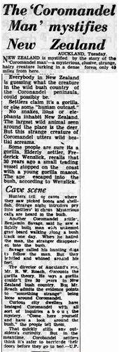 Article: The Coromandel Man mystifies New Zealand