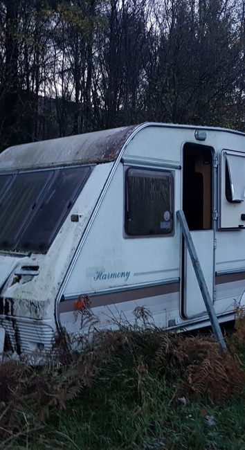 Creepy abandoned Campervan