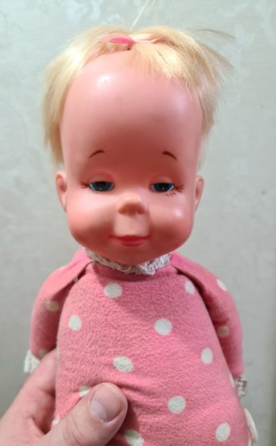 A doll with a message