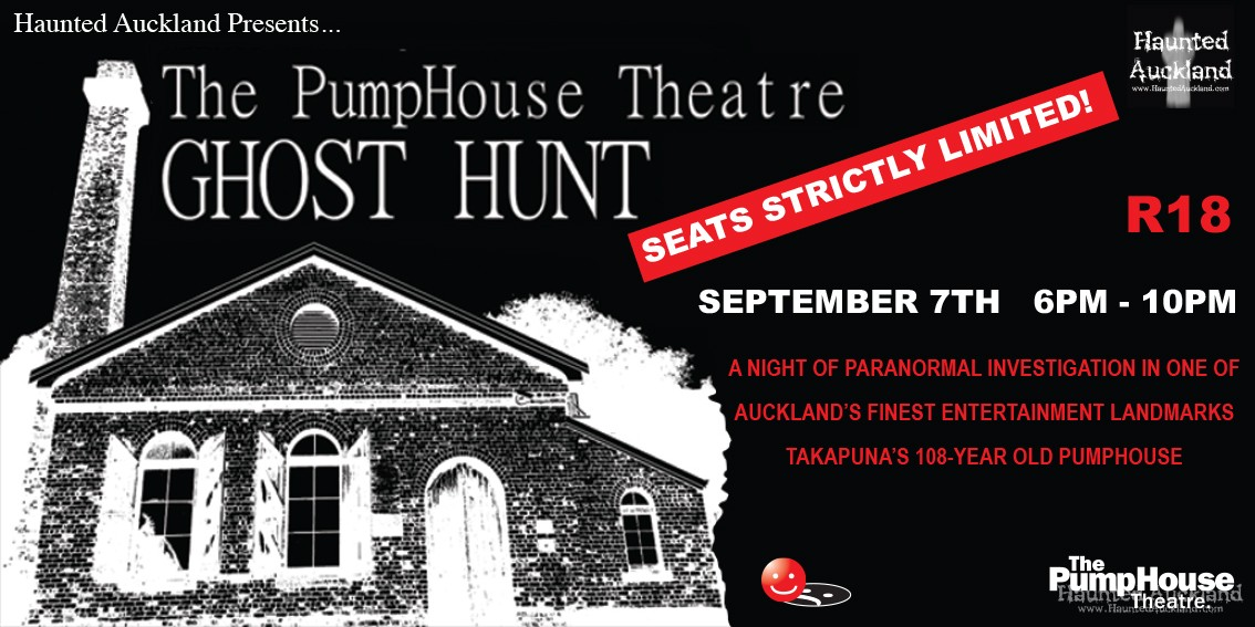PUBLIC GHOST HUNT: The Pumphouse Theatre Sept 7th