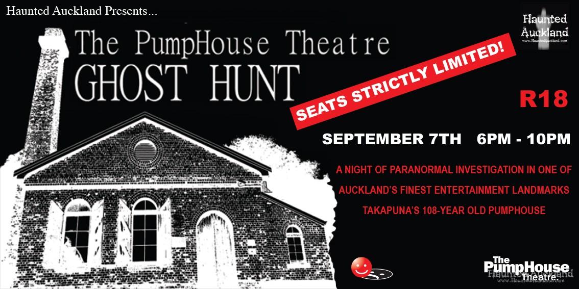 PUBLIC GHOST HUNT: The Pumphouse Theatre Sept 7th