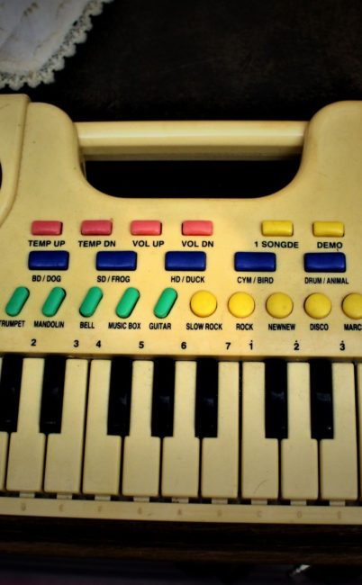 The Toy Keyboard under the floor
