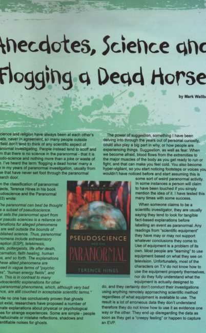 Article in ASSAP's Seriously Strange Magazine by Mark Wallbank